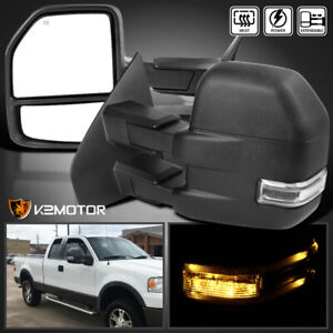 Fit Ford 2004 2006 F150 Power Heated Towing Side Mirrors Led Signal Left Right