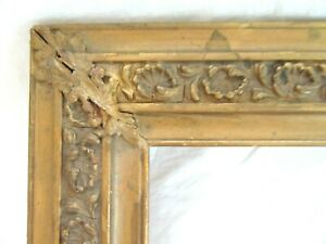 Antique Fits 10 X 15 Gold Picture Frame Wood Gesso Fine Art Ornate Country