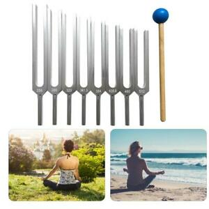 Tuning Fork With Silicone Hammer Yoga Practice Medical Tuner Treatment