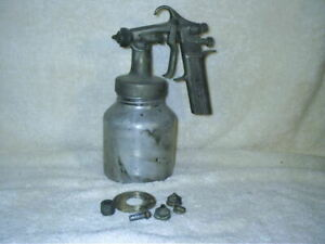 Vintage Devilbiss Spray Paint Gun With Canister Parts Gd502 Usa