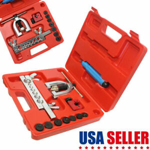 Auto Double Flaring Steel Brake Line W Mini Pipe Cutter Tool Kit For Car Truck