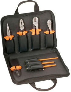 9 Piece Basic Insulated Tool Set Pliers Screwdrivers Cable Cutter Wire Stripper