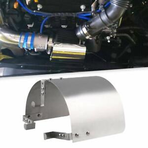 Air Intake Filter Heat Shield Cover 2 5 3 5 Universal Stainless Steel Silver
