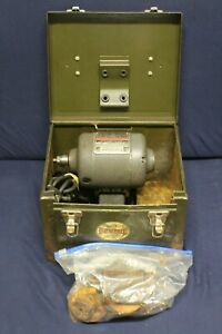 Dumore No 44 Tool Post Grinder 1 4 Hp In Metal Case C1