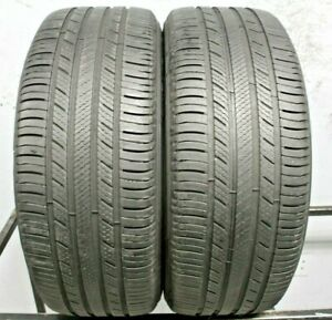 Two Used 225 55r17 2255517 Michelin Premier A S 5 5 6 32 2a274