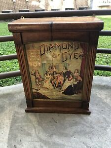 Antique Diamond Dyes Vintage Country Store Governess Cabinet
