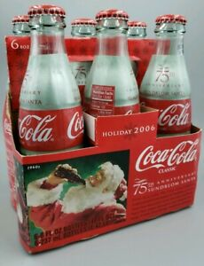 2006 Coca-Cola-75th Anniversary-Sundblom Santa Holiday 6-pack 8oz Bottles