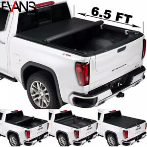 New Tri fold Soft Tonneau Cover Fits 07 18 Gmc Sierra 1500 2500 78in 6 5 Ft Bed