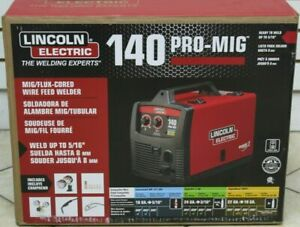 Lincoln Electric 140 Pro mig K2480 1 Mig flux cored Wire Feed Welder New