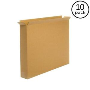 10 Pack Cardboard Moving Box 30x5x24 Sturdy Storage Boxes Picture Frame Tv Art