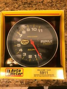 New Auto Meter Monster Tachometer 5911 Pro Comp 11k Mechanical Drive In Box