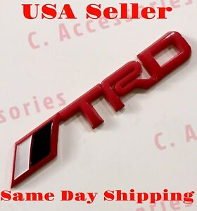 3d Trd Red Emblem Badge Decal Sticker