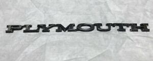 1960s 1970s Plymouth Hood trunk Nameplate Emblem