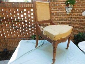 Eastlake Mahogany Victorian Side Chair To Upholster