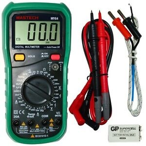 Mastech My64 Digital Multimeter W Hfe Test Frequency Capacitance Temperature