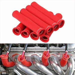 8pcs 2500 Spark Plug Wire Boots Protectors Sleeve Heat Shield Cover For Sbc Bbc