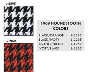 1969 Camaro Rear Seat Upholstery In Houndstooth