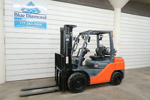 2015 Toyota 8fgu32 6 500 Pneumatic Tire Forklift Lp Gas 3 Stage Sideshift