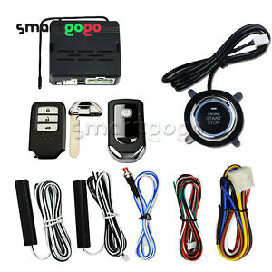 Car Alarm Start Security System Key Engine Start Push Button Remote Kit Bsg