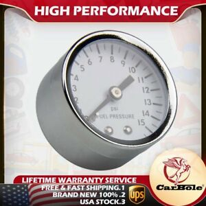 1 5 Fuel Pressure Gauge 0 15psi 1 8npt Female Port Mechanical Full Sweep Chrome