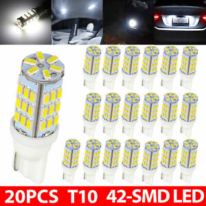 20 Pure White T10 921 194 Rv Trailer Backup Reverse Led Lights Bulbs 42 Smd 12v