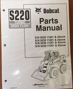 Bobcat S220 Parts Manual Book Skid Steer Loader 6902635 New