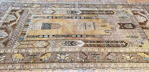 Beautiful Antique Cr1900 1939s Muted Natural Dye Legendary Oushak Rug 4 3 9