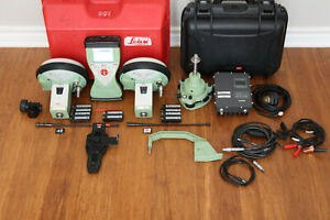 Leica Dual Gs15 Gps Gnss Glonass Rtk Survey Base Rover Kit W Cs15