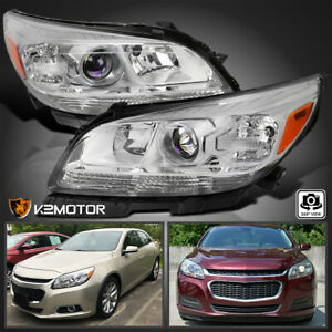 Fits 2013 2014 2015 Chevy Malibu Halogen Clear Projector Headlights Left Right