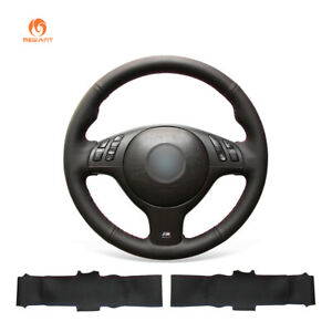 Pu Leather Steering Wheel Cover Wrap For 5 Series E39 525i M3 M5 3 Series E46