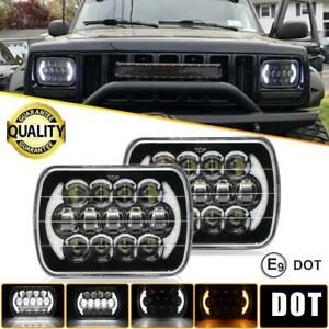 2pcs Dot Approved 5x7 7x6 150w Led Headlights For Jeep Cherokee Xj Wrangler Yj
