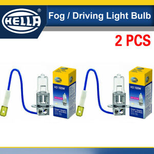 2pcs Hella H3 100w Driving Fog Light Bulb H3 Halogen White 100 Watt 12 Volt