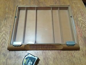Portable Glass And Wood Countertop Display Case 18 w X 14 l X 2 h
