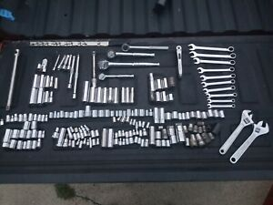 200 Pcs Huge Lot Of Craftsman Husky Mastergrip sockets Ratchets Wrenches