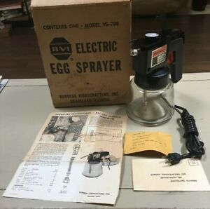 Nos Vintage Burgess Vibrocrafters Inc Electric Egg Sprayer In Box Model Vs 788
