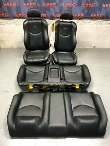 2008 Infiniti G37 Sport G37s Coupe Oem Front Rear Black Leather Sport Seats