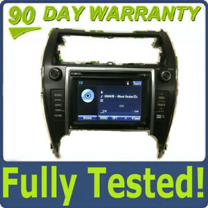 2012 2013 2014 Toyota Camry Oem Touch Screen Navigation Gps Hd Radio Cd Player