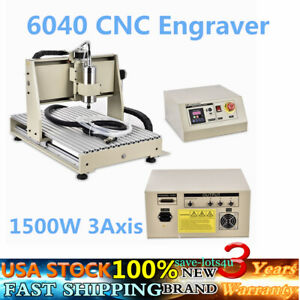 Cnc Router 3 Axis 6040 Engraving Mill Engraver Machine 3d Metal Wood Cut 1 5kw