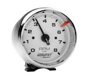 Auto Meter 3 3 4in White Face Tach Chrome Cup 2304