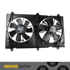 Radiator Condenser Cooling Fan W Motor For 03 07 Honda Accord 2 4l 4 Cyl Engine