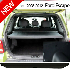 Retractable Cargo Cover Rear Trunk Security Blk Shade For 2008 2012 Ford Escape