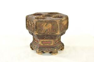 Antique Chinese Wooden Carving Carved Altar Stand Qing Dynasty 19th C
