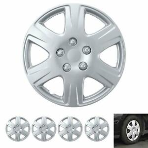 15 Hubcaps For Car Accessories Wheel Covers Replacement Tire Rim Replica 4 Pack