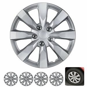 16 Hubcaps For Car Accessories Wheel Covers Replacement Tire Rim Replica 4 Pack