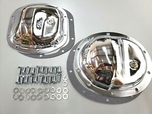 Jeep Dana 30 35 10 Bolt Chrome Steel Front Rear Differential Cover Kit Tj Yj