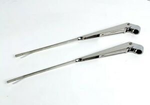 Pair Front Windshield Wiper Arms For 1967 72 Chevy Pickup Truck