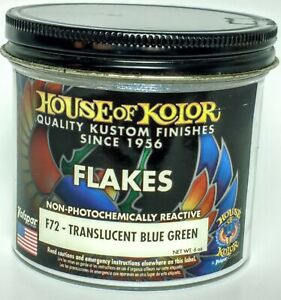 6 Oz Translucent Blue To Green Flake House Of Kolor Fine Size 1 166th Square F72