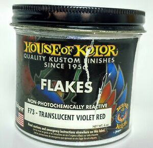6 Oz Translucent Violet To Red Flake House Of Kolor Fine Size 1 166th Square F73