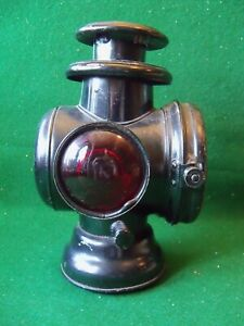 Antique Cowl Lamp Head Light Kerosene Orig Paint Lantern Little Used Rat Rod