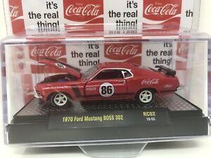 M2 MACHINE COCA-COLA 1970 Ford Mustang Boss 302 RED 2019 NEW